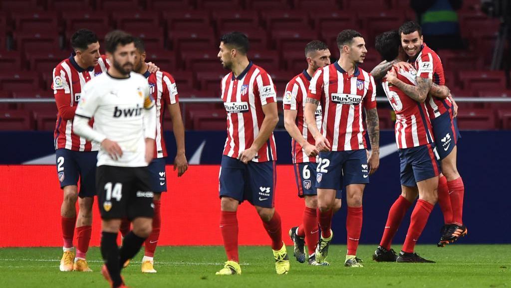 Atletico Madrid Vs Valencia: Luis Suarez dkk Menang 3-1