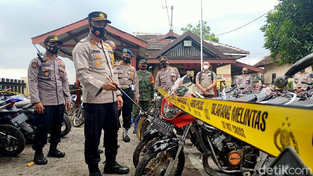 Pembalap Liar di Kediri Kucar-kacir, Polisi Amankan 134 Motor