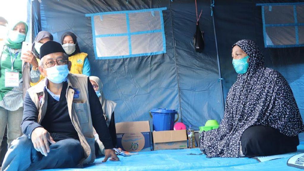 Kunjungi Korban Gempa di Polman, Gubernur Sulbar Minta Warga Bersabar