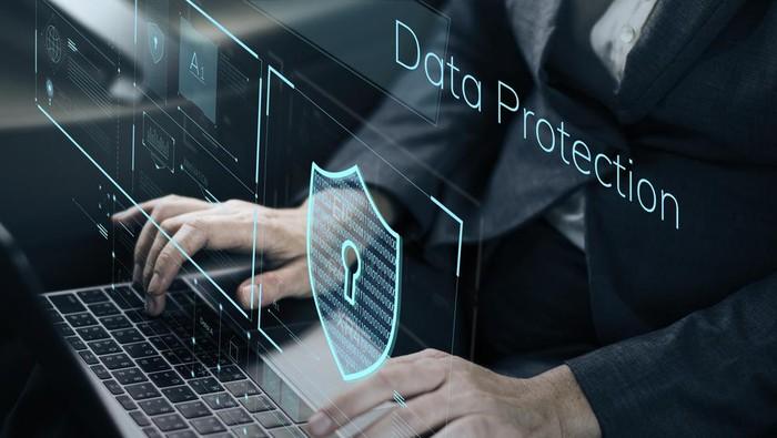 Ilustrasi perlindungan data digital