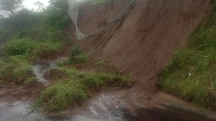 Lokasi kejadian seorang warga tewas tertimbun longsor di Boyolali, Senin (25/1/2021).
