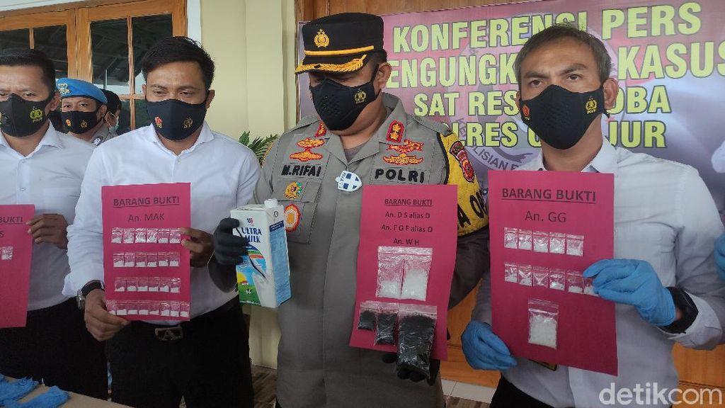 Polres Cianjur Bekuk 10 Pengedar Sabu-Tembakau Gorila Jaringan Lapas