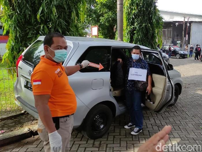 Prarekonstruksi perampokan setengah miliar di Semarang, Senin (25/1/2021).