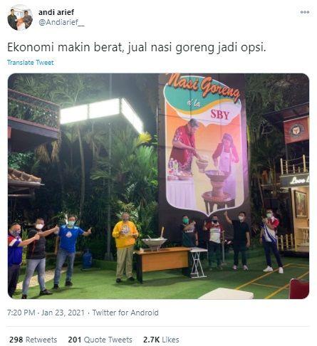 Fakta Seputar Viral SBY Jualan Nasi Goreng