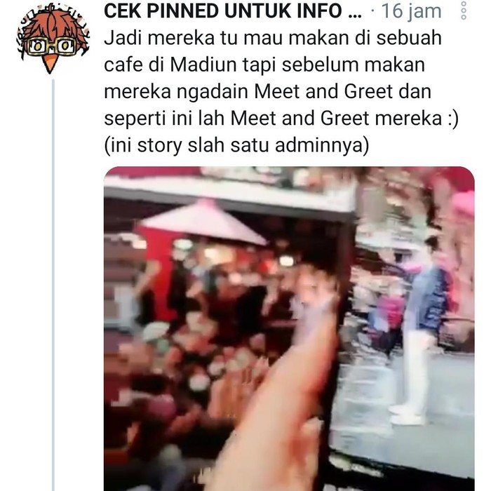Video meet and greet bintang TikTok di Kota Madiun tengah menjadi perbincangan di Twitter. Sebab acara tersebut mengabaikan prokes.