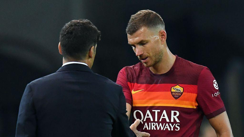 Hubungan dengan Fonseca Memanas, Dzeko Bakal Tinggalkan Roma?