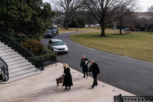 Champ dan Major sampai di White House pada hari Minggu (24/1) lalu.