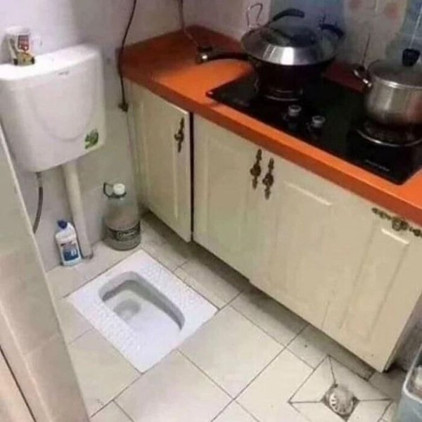 Ini maksudnya apa menggabungkan dapur dengan kloset?