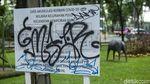 Kasihan, Gajah Ini jadi Korban Vandalisme