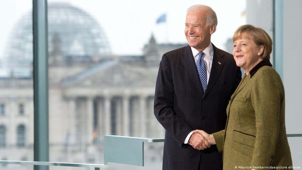 Lewat Panggilan Telepon, Biden-Merkel Sepakat Atasi Tantangan Global Bersama