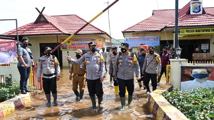 Polsek Martapura, Kalimantan Selatan kebanjiran