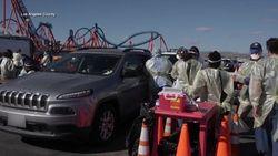 Wahana Roller Coaster di California Disulap Jadi Pusat Vaksinasi Corona