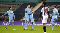 WBA Vs Man City: Pesta Gol 5-0, The Citizens ke Puncak Klasemen