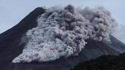 Foto Gunung Merapi Dipotret dari Luar Angkasa