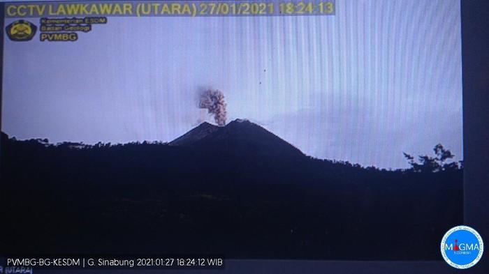 Erupsi Gunung Sinabung 27 Januari 2021 (dok. Istimewa)