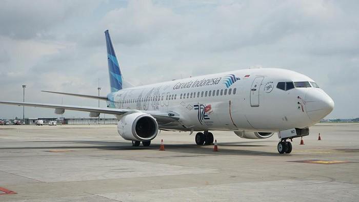 Garuda Indonesia dengan livery yang Indonesia banget