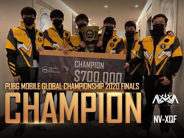 Juara PUBG Mobile Global Championship 2020 Dubai, tim Nova Esports dari China
