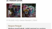 Pesan Detergen Lewat Toko Online Tapi yang Dikirim Susu Cokelat