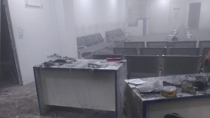 RS Sentra Medika Cibinong Bogor Terbakar (Foto: dok Damkar Kab Bogor)