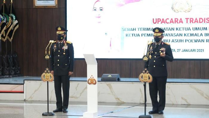 Serah terima jabatan Kapolri dari Jenderal Idham Azis ke Jenderal Listyo Sigit Prabowo