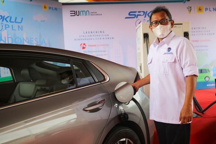 SPKLU Mobil Listrik di Tol Trans Sumatera