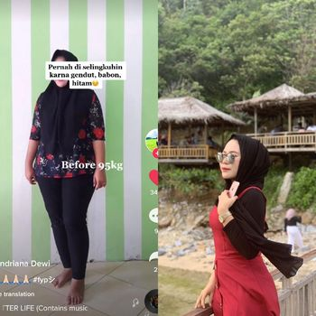 Lilis Indriana Dewi dulu pernah diselingkuhi karena masalah berat badan. Kini glowup