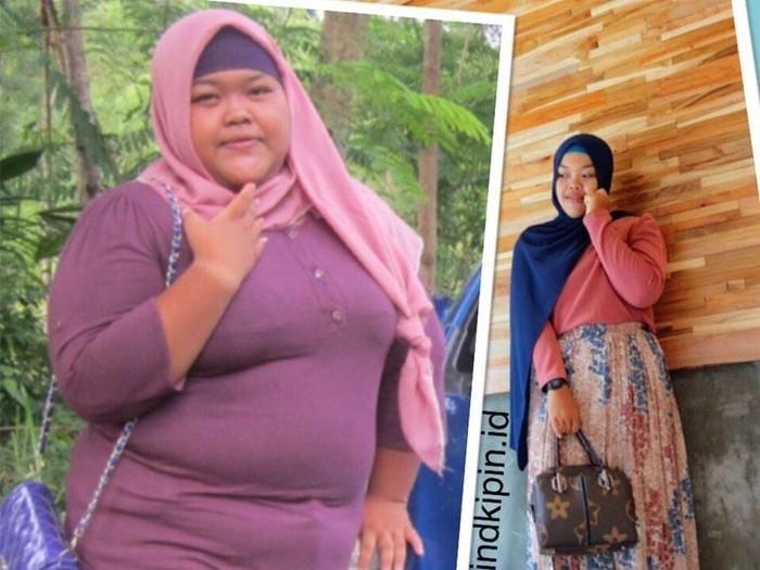 Vindhy Dian Indah Pratika yang berhasil menurunkan berat badan