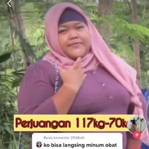 Kisah Glow Up Viral, Wanita dengan Berat 117 Kg Berhasil Turun Jadi 70 Kg