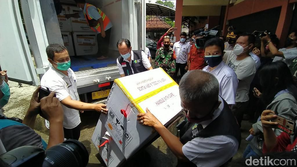 Ciamis Terima 17.300 Dosis Vaksin Corona Sinopharm
