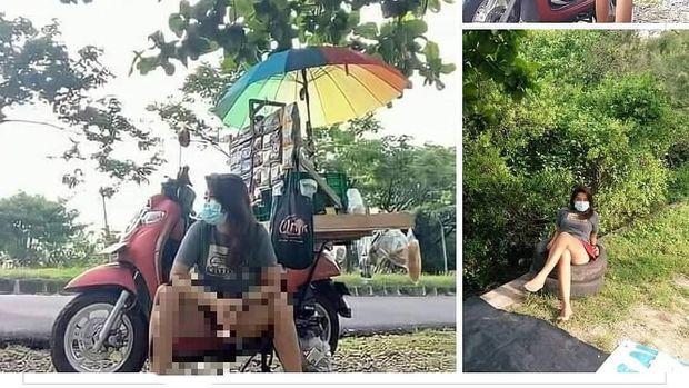 Foto viral penjual kopi di Bali.
