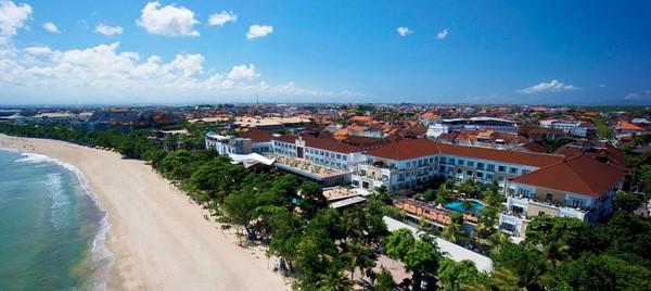 Hotel Grand Inna Kuta terletak di Jalan Pantai Kuta nomor 1.(Grand Inna Kuta)