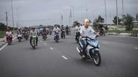 Meme Kakek Sugiono Jadi Anak Motor Drag, Kocak Abis