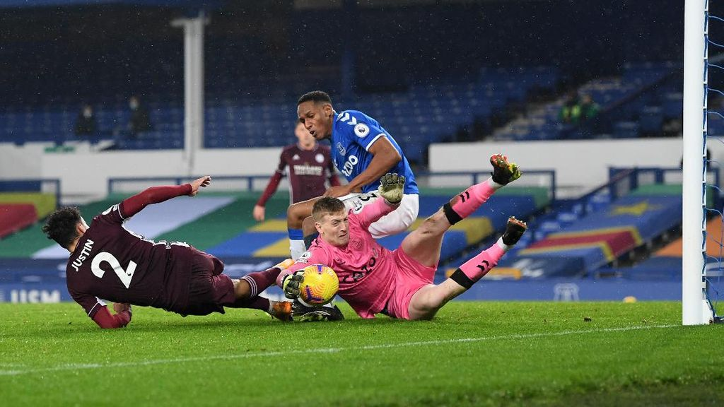 Sengit! Everton Vs Leicester Ciy Tuntas 1-1