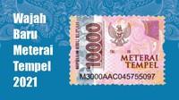 Begini Wajah Meterai Rp 10.000