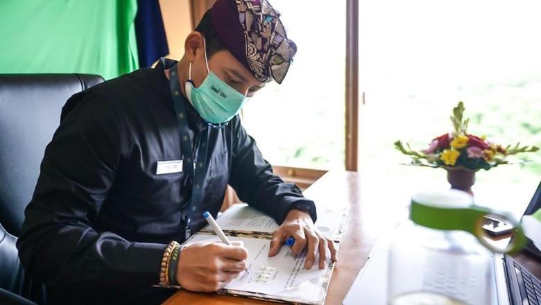 Sandiaga Uno berkantor di Bali,Kamis (28/1)
