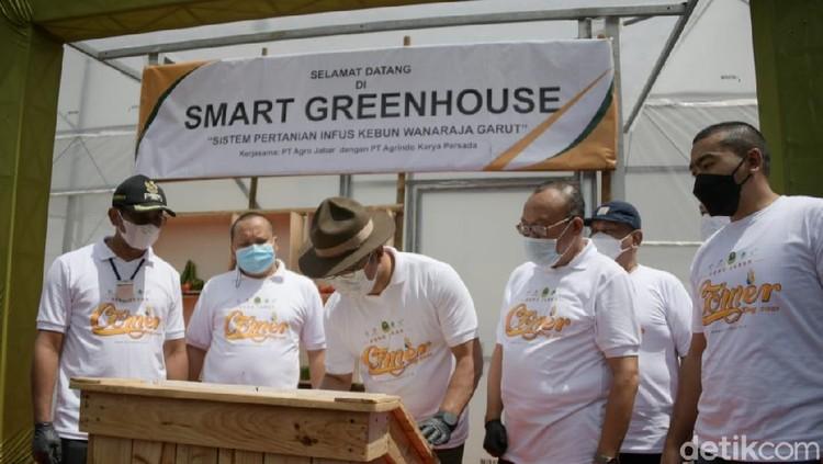 Smart Green House Diresmikan Ridwan Kamil di Garut