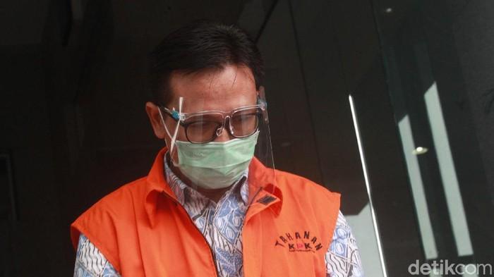 Tersangka Manajer Wilayah II/Manajer Divisi Operasi I PT Wijaya Karya (Persero) I Ketut Suarbawa kembali jalani pemeriksaan di KPK.