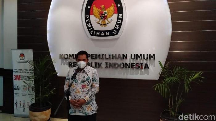 Dirjen Politik dan Pemerintahan Umum Kemendagri, Bahtiar di KPU
