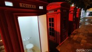 Unik! Boks Telepon Khas London Disulap Jadi Toilet Umum di Majalengka