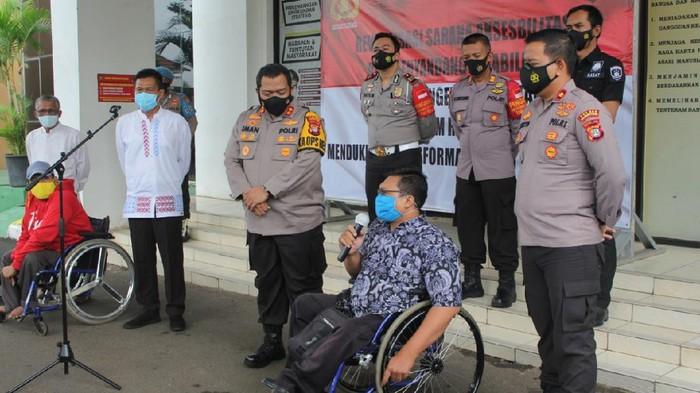 Pelayanan di Polres Tangsel Kini Dilengkapi Fasilitas Ramah Disabilitas