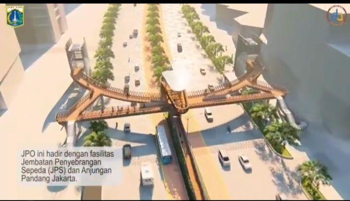 Rencana revitalisasi JPO Sudirman (tangkapan layar)