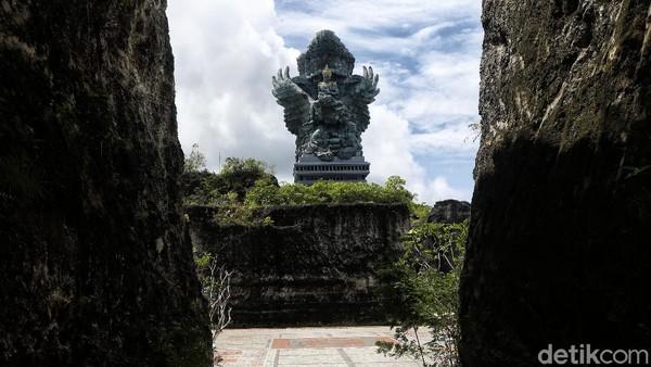 Begini suasana di kawasan Garuda Wisnu Kencana (GWK) Cultural Park di Badung, Bali.