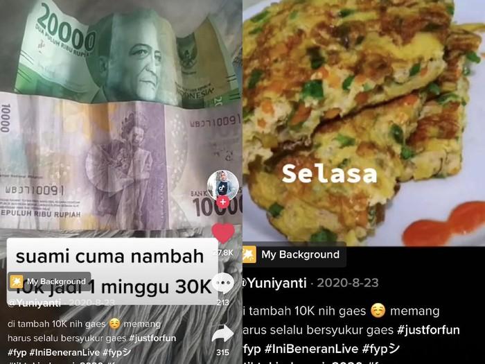 wanita bernama Yuni Yanti Suherman membagikan cerita uang belanja dalam keluarga