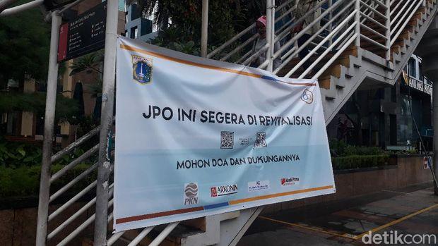 Kondisi JPO Karet Sudirman yang akan direvitalisasi Pemprov DKI Jakarta