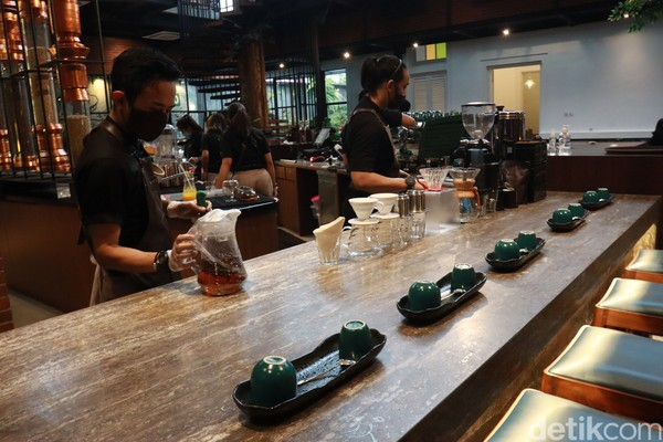 Ada menawarkan enam jenis kopi di Indonesia, enam jenis kopi itu di antaranya, Garut Full Wash, Papua Honey, Bali Kintamani, Lintong Demi Wash, Java Temanggung Robusta dan Gayo Wash. (Wisma Putera/detikcom)