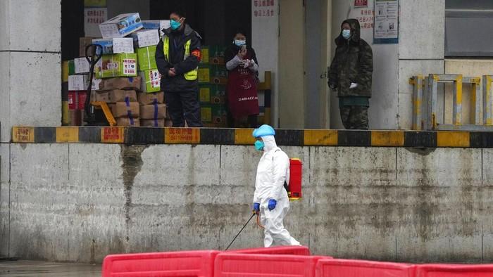 Tim peneliti WHO mendatangi Wuhan,China, untuk selidiki asal-usul virus Corona. Salah satu lokasi yang ddatangi tim peneliti WHO adalah Pasar Baishazhou.