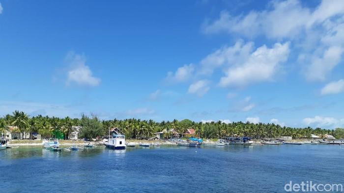 Ilustrasi pulau di Taman Nasional Takabonerate, Selayar (Noval/detikcom).