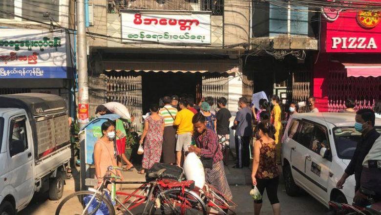 Kota Yangon pasca kudeta