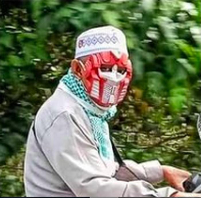 Masker anti corona iron man
