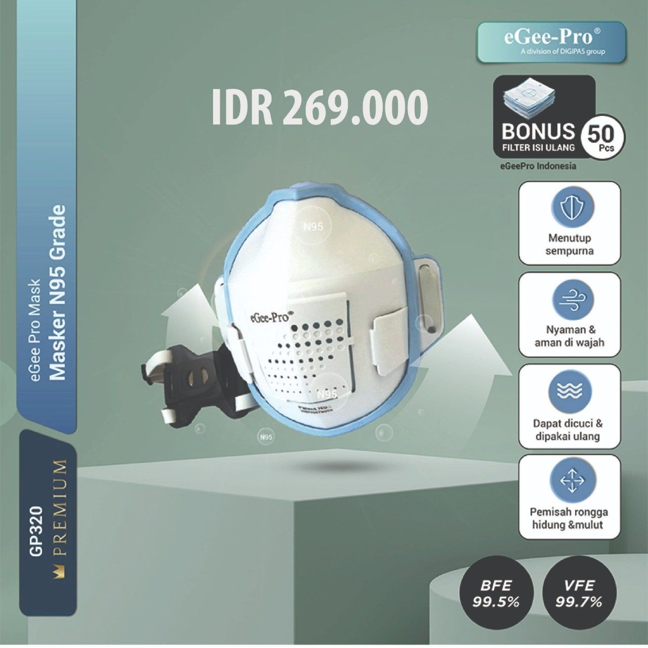 Masker N95 eGee-Pro